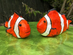 Powertex Clownfish sculptures by Annette Smyth